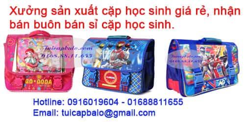 Xưởng sản xuất cặp học sinh tại Hà Nội, bán buôn bán sỉ cặp học sinh