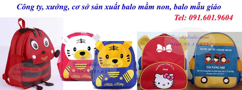 Công ty, xưởng, cơ sở sản xuất balo mầm non, balo đồng phục trường mẫu giáo rẻ đẹp tại Hà Nội