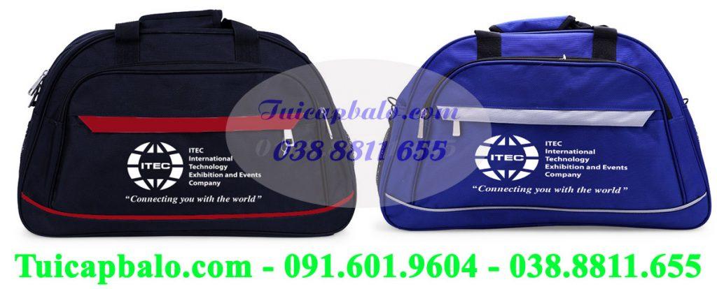 Xưởng may Tuicapbalo.com may túi du lịch quà tặng của Itec