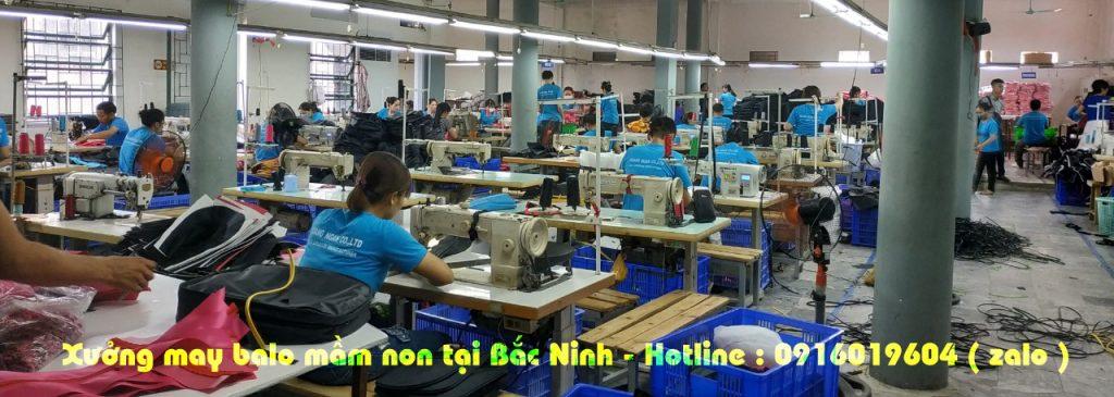 Xưởng may balo mầm non giá rẻ tại Bắc Ninh
