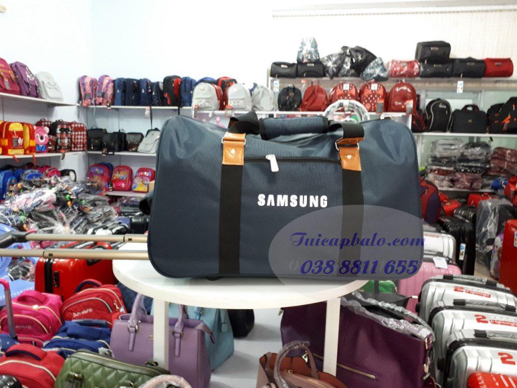 Mẫu túi du lịch kéo quà tặng may cho SAMSUNG VIỆT NAM