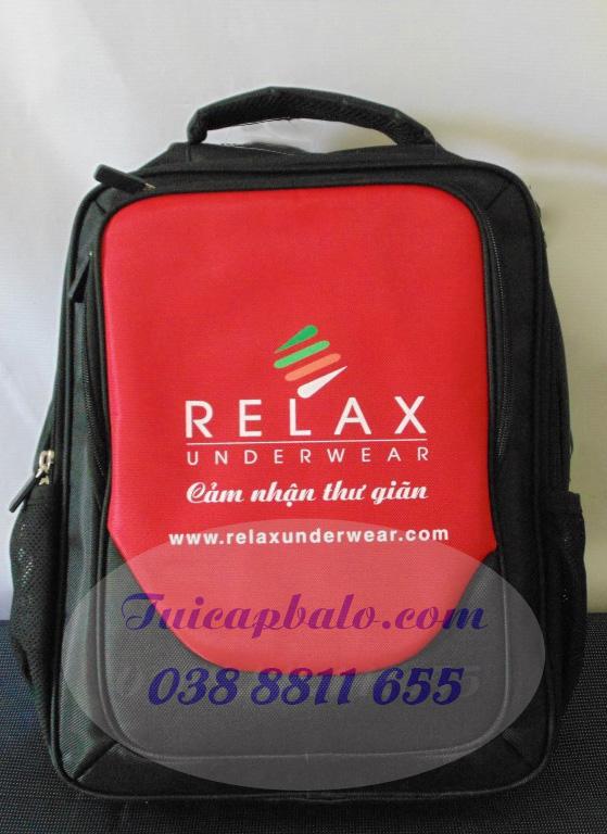 Mẫu balo lap top BL113 thêu logo nhãn hàng Relax