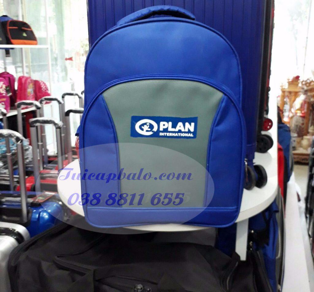 mẫu balo quà tặng in logo Plan