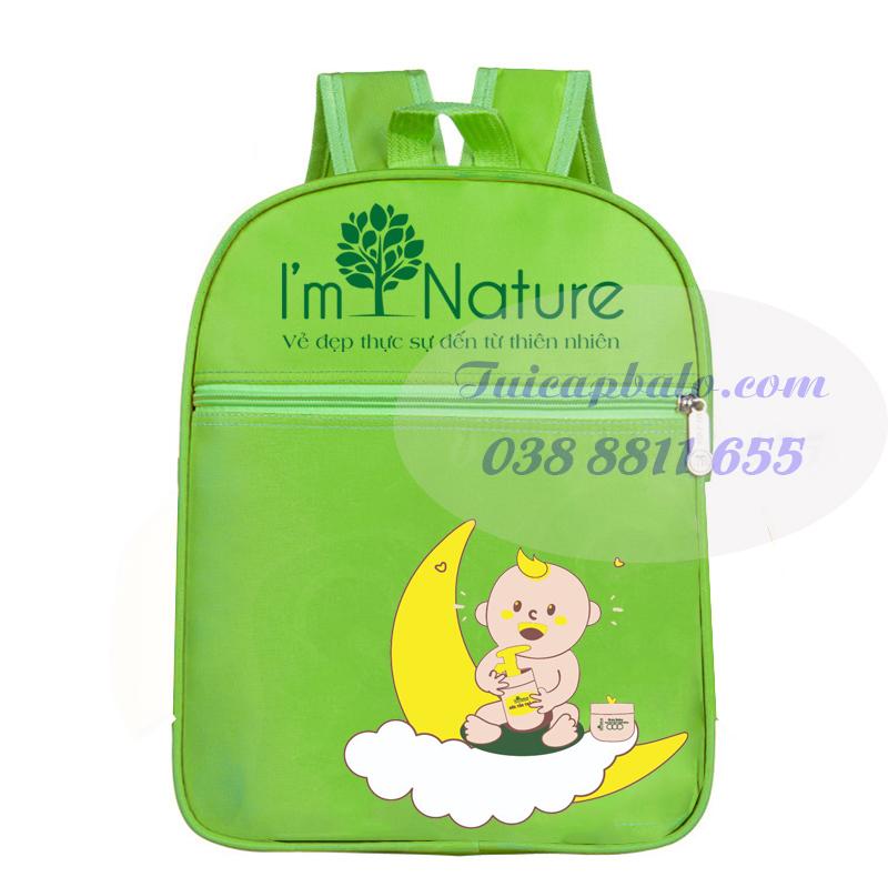 Balo màu xanh lá tặng kèm sản phẩm mỹ phẩm thiên nhiên NATURE tại Vĩnh Phúc