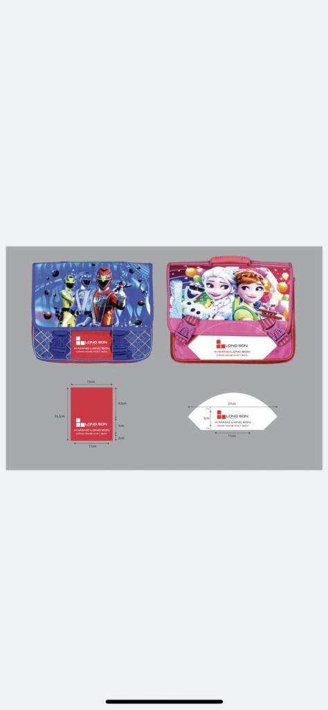 Sản xuất cặp học sinh in logo, thương hiệu