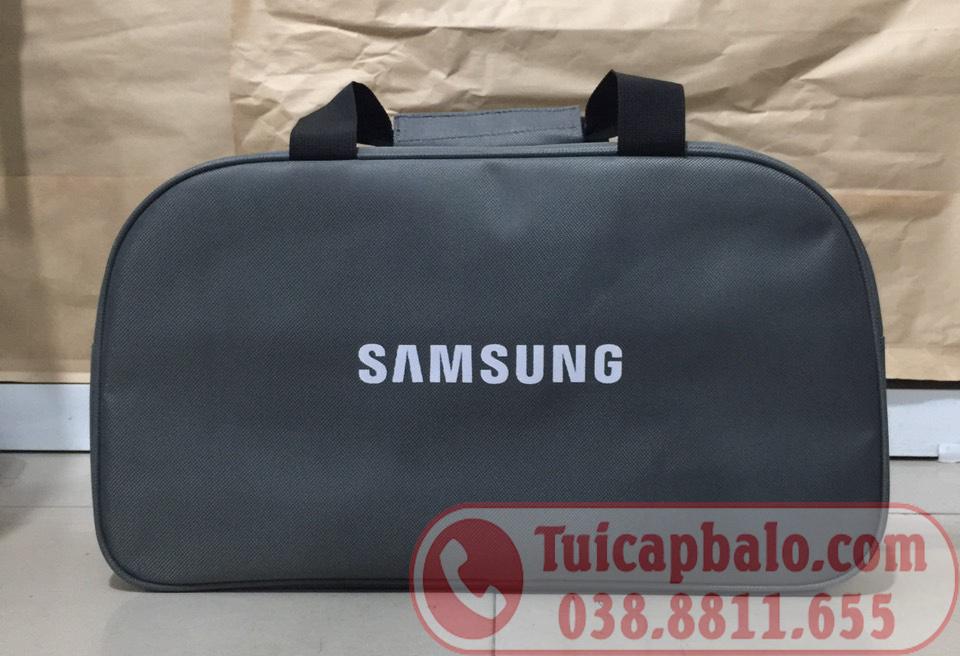 Túi du lịch quà tặng in logo SAMSUNG màu ghi