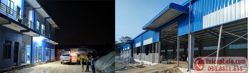 Nhà máy sản xuất túi du lịch đang xây dựng tại Ninh Bình