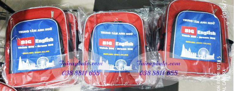 Balo quà tặng trung tâm anh ngữ cho trẻ em Big English