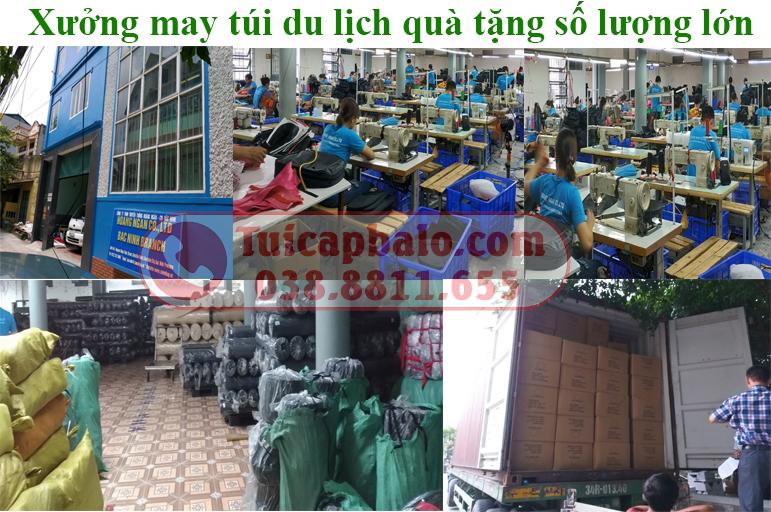 Xưởng may túi du lịch quà tặng số lượng lớn