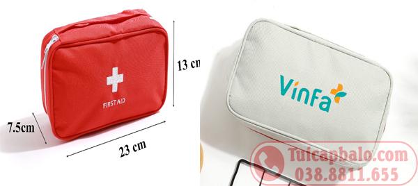 May túi đựng dụng cụ y tế, túi đựng thuốc VINFA+, balo VINSCHOOL cho VINGROUP
