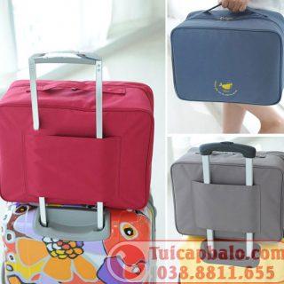 May túi gắn vali gấp gọn
