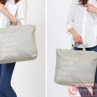 Xưởng may túi vải canvat in thêu logo giá rẻ tại Hà Nội