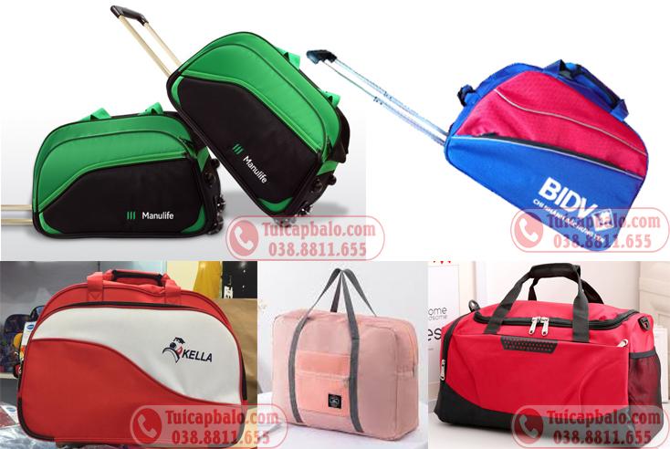 Sản xuất túi du lịch tặng công nhân viên công ty, đặt may túi du lịch số lượng lớn