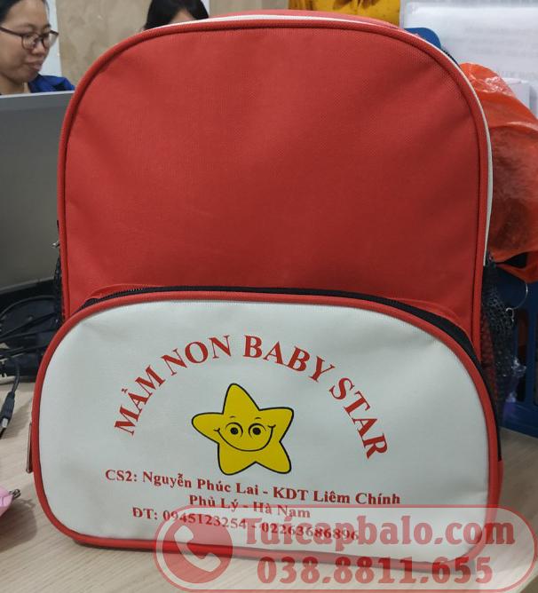 Balo mầm non quà tặng trường  BABY STAR tại Hà Nam