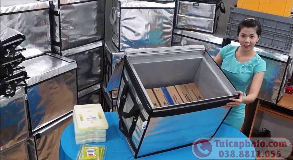 Xưởng may túi giữ nhiệt giao hàng coolbags size lớn