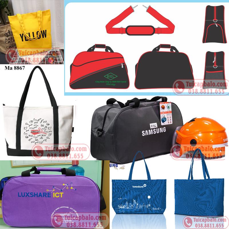 Sản xuất túi du lịch in thêu logo