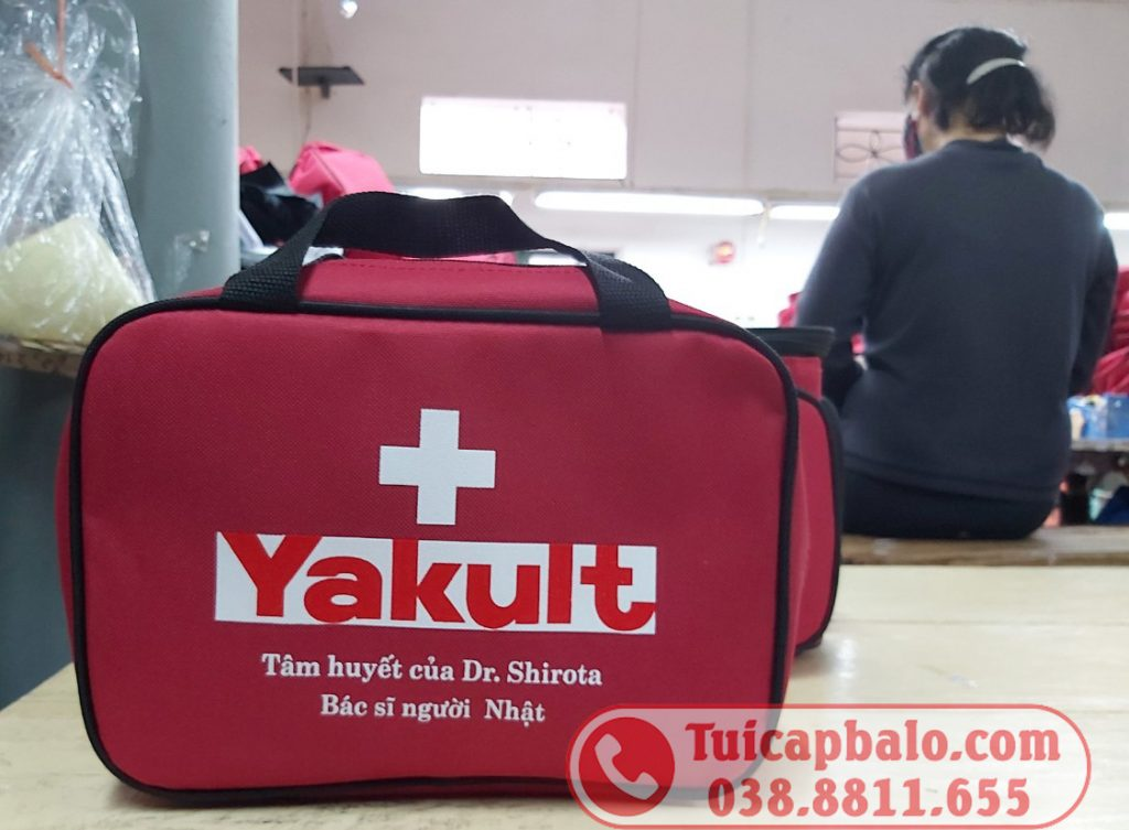 Sản xuất túi y tế Yakult - Mẫu túi y tế cá nhân