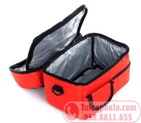 túi giữ nhiệt bằng vải dù( polyester) và màng giữ nhiệt