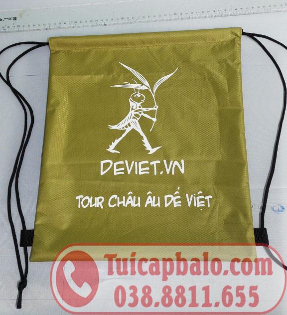 Sản xuất balo dây rút quà tặng in thêu logo