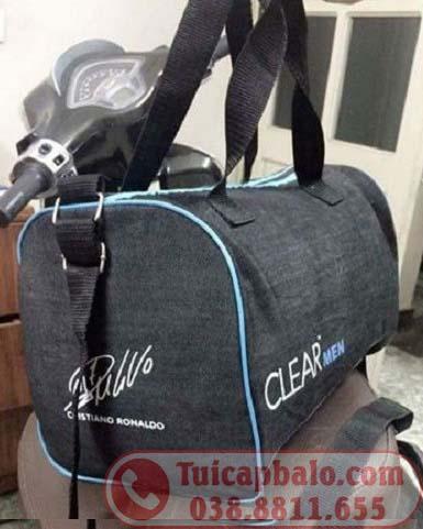 Túi trống quà tặng in thêu logo nhãn hàng Clear men