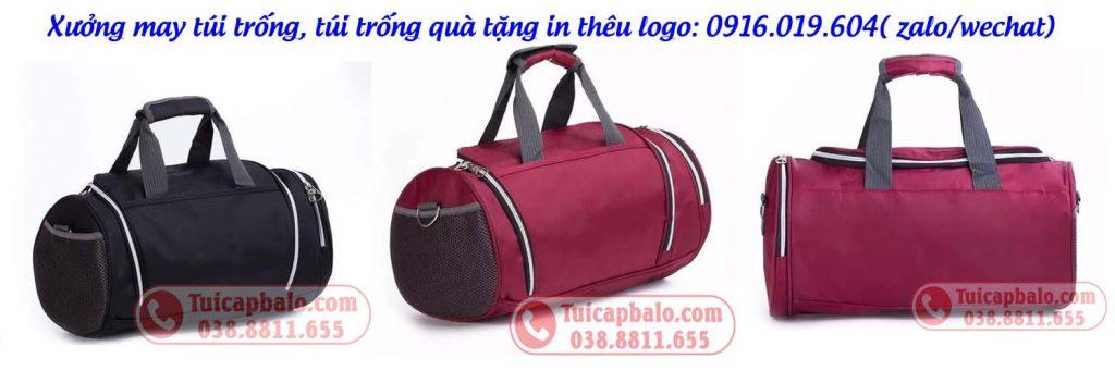 Sản xuất và in thêu logo lên túi trống