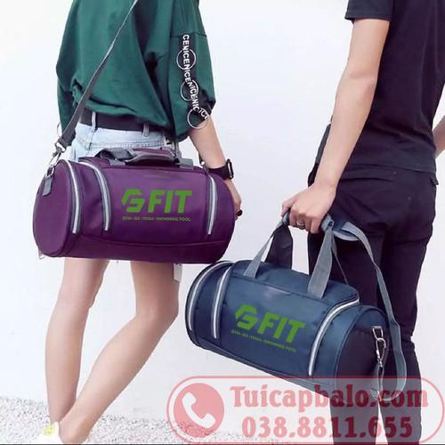 Sản xuất túi trống in thêu logo phòng tập GYM