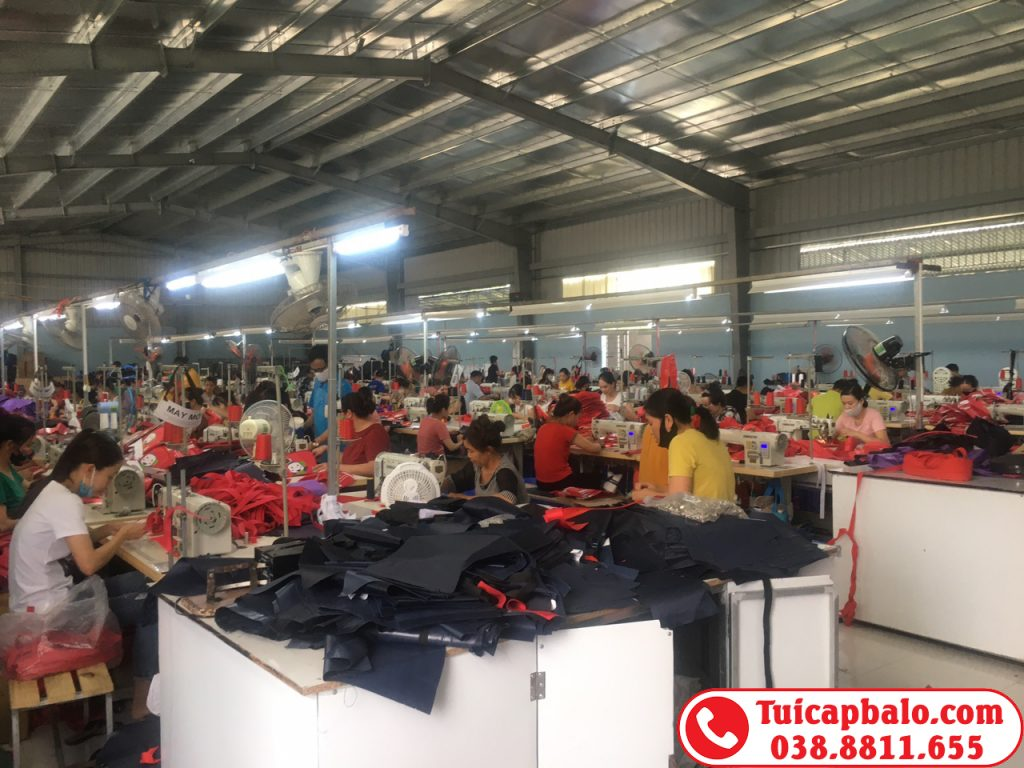 Nhà máy sản xuất balo trẻ em tại Ninh Bình